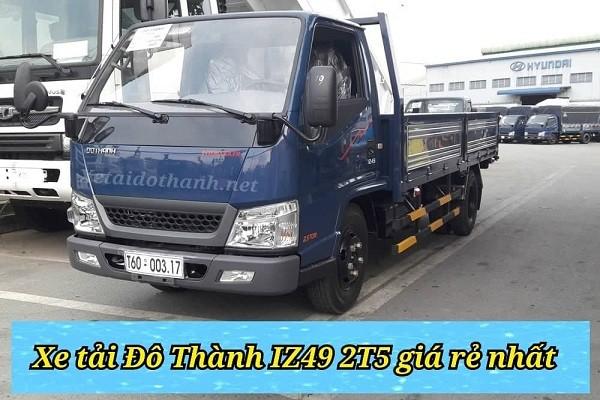 Giá xe tải Đô Thành IZ49 rẻ nhất - Hổ trợ vay 90% xe 1