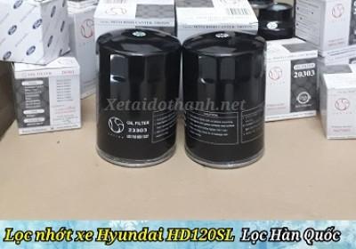 Lọc nhớt xe Hyundai HD120SL - 23303