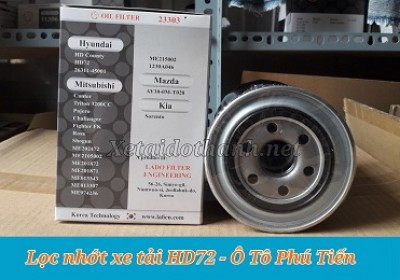 Lọc nhớt xe tải Hyundai HD72 - 23303