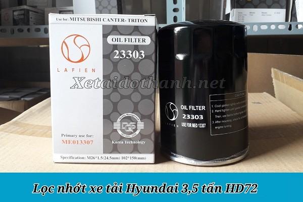 Lọc nhớt xe tải Hyundai HD72 - 23303 1