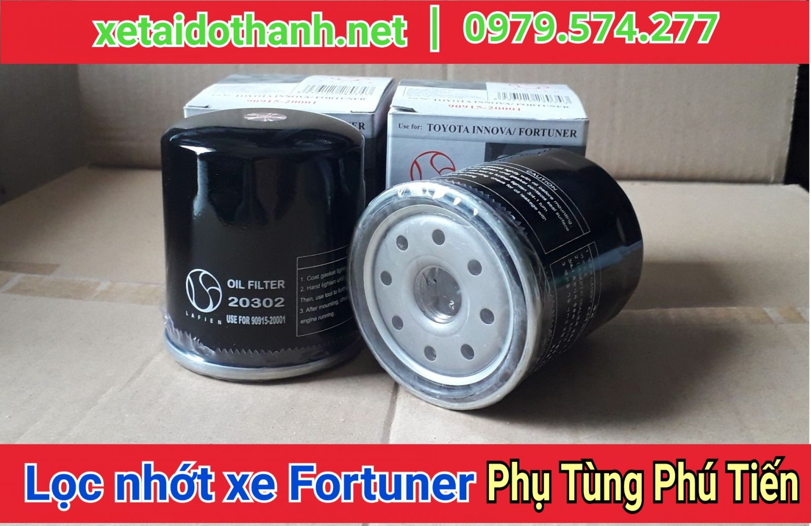 Lọc nhớt Xe Toyota Fortuner