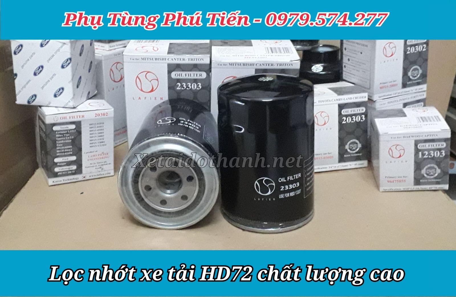 Lọc nhớt xe Hyundai HD72 chất lượng