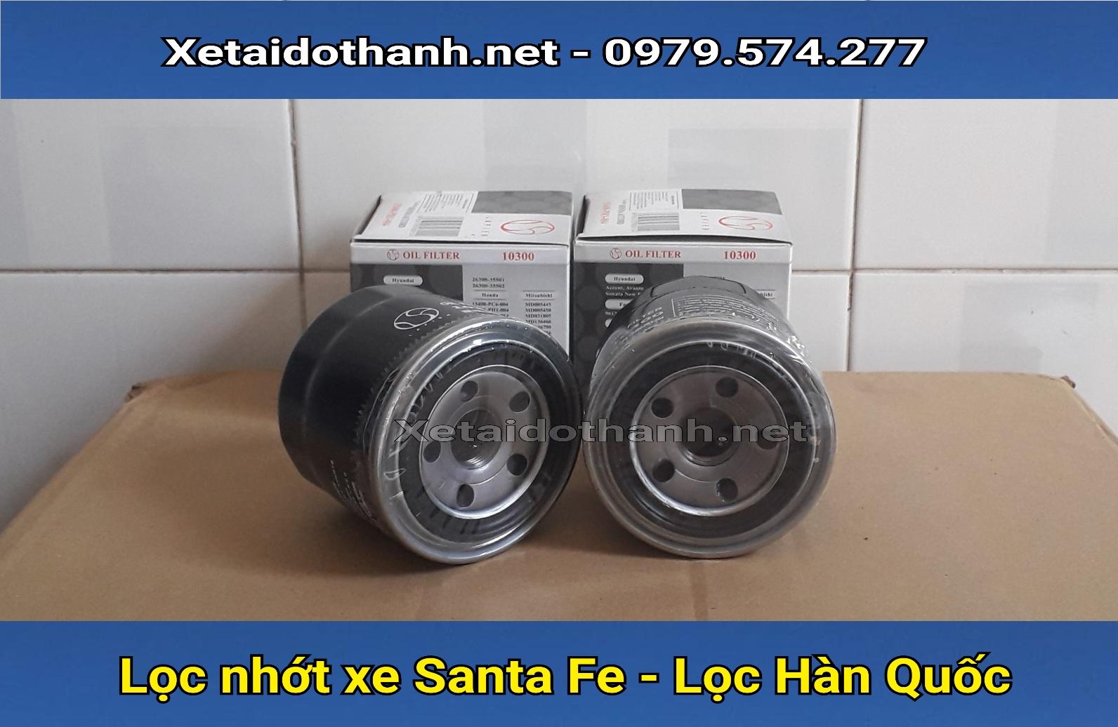 Lọc nhớt xe Hyudai Santa Fe chất lượng