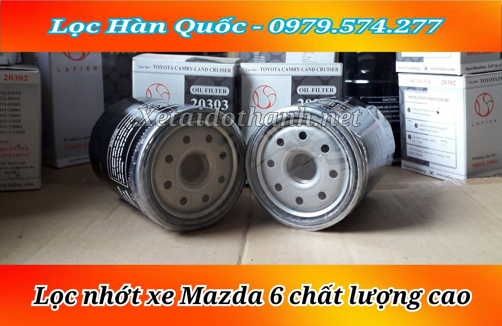 Lọc nhớt xe Mazda 6 - 20303