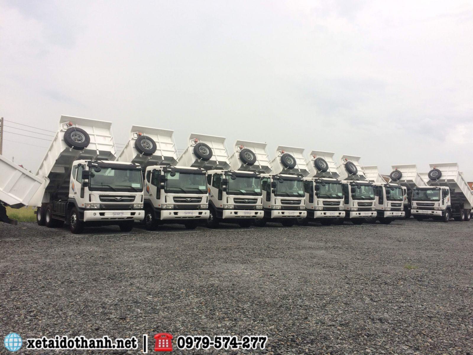 xe daewoo 15 tấn hàn quốc