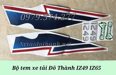 Bộ Tem Xe Tải IZ49 IZ65 - Phụ Tùng Đô Thành