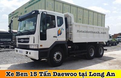 XE BEN 15 TẤN 3 CHÂN DAEWOO TẠI LONG AN - VAY 90% XE