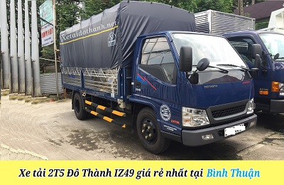 Xe tải Đô Thành IZ49 tại Bình Thuận - 2 tấn - Động cơ ISUSU - Hổ trợ vay 90% xe
